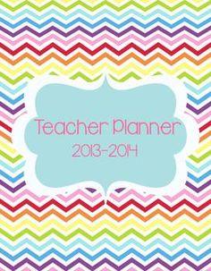 Texas Teacher & Lesson Planner Editable with TEKS {Chevron Chic} - A Modern Teacher - TeachersPayTeachers.com