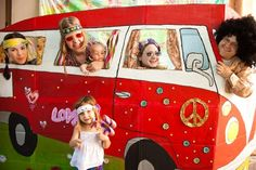 Feeling groovy? How about a 60's hippie van photo with the whole family!