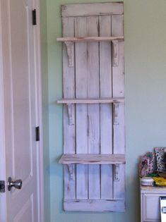 DIY Farmhouse Wall Shelf. Inspiration came from Ana-White.com