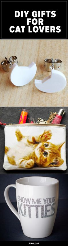 Adorable DIY gifts for your feline-loving friends.