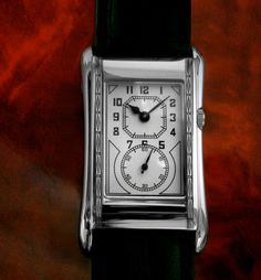Special New 711s DOCTORS DUO DIAL ART DECO 1930/40'S WATCH OBLONG PERIOD STYLE