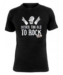 """Camiseta Los Simpson """"Never to old to rock"""""""