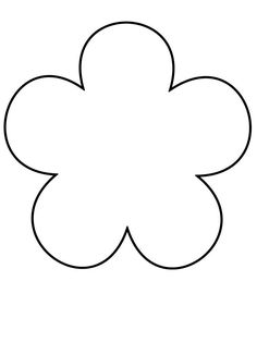 Free printable flower templates to fold and cut into easy 6 petal flower template printable bee template flower petal template flower crafts diy flowers maxwellsz