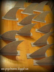 PDF Shark Fin Tutorial: How to Make Shark Fins - No Sew - Make Shark Fins for a Shark Party or part of a Shark Costume or for Shark Week Shark Fin, Shark Week, Baby Shark, Ocean Party, Shark Party, Water Party, Beach Party, Shark Costumes, Diy Shark Costume