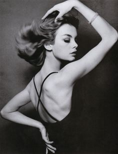 Jean Shrimpton par David Bailey pour Vogue US 1962
