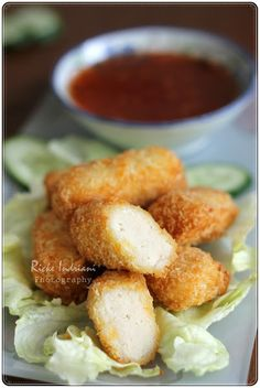 Just My Ordinary Kitchen...: NUGGET AYAM WORTEL (CHICKEN NUGGET WITH CARROT) Good Food, Yummy Food, Ramadan Recipes, Chicken Nuggets, Fish And Chips, Food Dishes, Food Processor Recipes, Carrots, Chicken Recipes