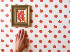 Removable Wallpaper // Apples to Apples // by KateZarembaCompany, $36.00