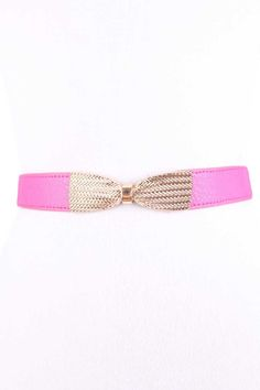 #FashionVault #kandy kouture #Women #Accessories - Check this : Fuchsia High Polish Bow Textured Hook Closure Cute Belt for $12.99 USD instead of $3.99 #OnSale