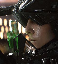 A selection of personal concept designs of humanoid robots and cyborgs. Image by MACIEJ KUCIARA Humanoid Robot, Shield Maiden, Cg Artist, Visual Development, Shadowrun, Sci Fi Art, Cyberpunk, Techno, Science Fiction