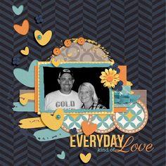 """Everyday Kind of Love"" by Tracyfish, as seen in the Club CK Idea Galleries. #scrapbook #scrapbooking #creatingkeepsakes"
