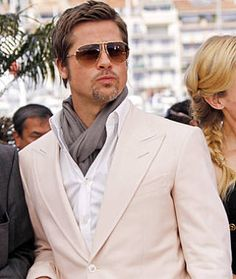 Red Carpet Fashion – See Brad Pitt on the Cannes Red Carpet - ELLE