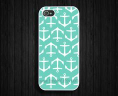 iphone 5 case---Tiffany Blue anchor iPhone 5 case, iphone 5 hard case,iphone case. $11.99, via Etsy.