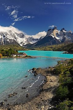 Laguna Peohe in Torres del Paine National Park- Patagonia, Chile South America Destinations, South America Travel, Places To Travel, Places To See, Travel Destinations, Destination Voyage, Places Around The World, Dream Vacations, Beautiful Landscapes