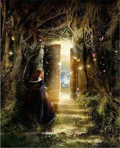 A MAGICAL WORLD AWAITS  Open the door outside to see A magical place it can be With fields of corn and rye The sun hanging in the blue sky.  Take a risk