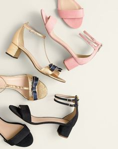 J.Crew women's suede double ankle-strap sandals and metallic ankle-strap sandals.