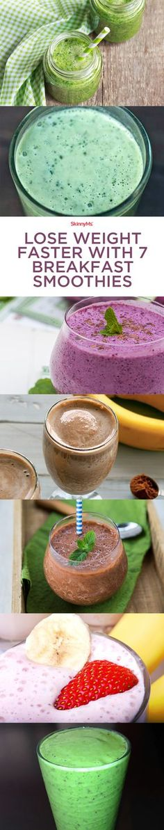 Lose Weight Faster With 7 Breakfast Smoothies!