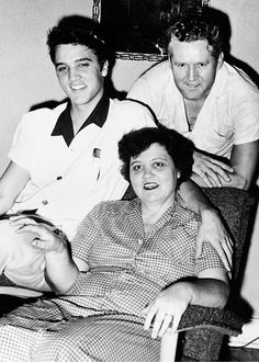 Elvis, Vernon and Gladys Presley, July 1955.