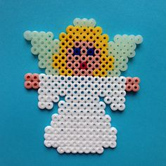 Christmas Engel hama perler beads by paige Christmas Perler Beads, Beaded Christmas Ornaments, Noel Christmas, Christmas Crafts, Perler Bead Templates, Perler Bead Designs, Perler Bead Art, Pearler Bead Patterns, Perler Patterns