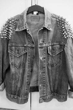 denim jacket. #studs