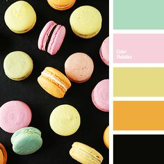 black, color selection, color solution for home, gentle shades of pink, green…
