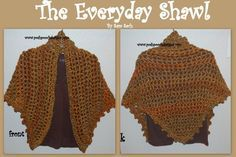 The Easiest and  Quickest Shawl Pattern  you will ever make! Do you have some Homespun style yarn  laying around and can not ...