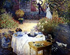 Monet's Paintings in the Louvre | Monet's The Luncheon, a photo from Ile-de-France, North | TrekEarth