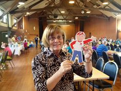 Doreen Young and Flat Bob!  Get your own Flat Bob today...help us raise awareness of SADS conditions.  You could save a life!  www.StopSADS.org/flat-bob