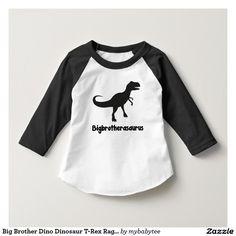 Big Brother Dino Dinosaur T-Rex Raglan Shirt