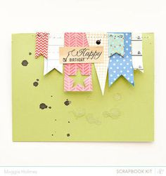 Happy Birthday Card by maggie holmes at Studio Calico - March Kits