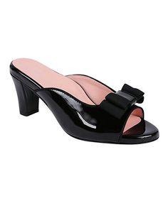 Look at this #zulilyfind! Black Fico Patent Leather Sandal #zulilyfinds