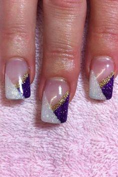purple nail acrylic designs - Google Search