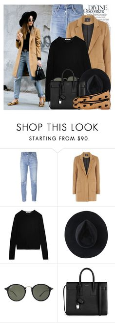 """2543. Blogger Style: Lovely Pepa"" by chocolatepumma ❤ liked on Polyvore featuring Oris, Citizens of Humanity, mel, T By Alexander Wang, Ryan Roche, Ray-Ban and Yves Saint Laurent"