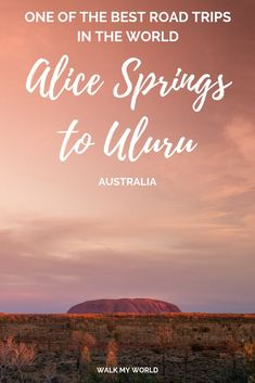 The perfect itinerary for one of the world's best road trips that goes through Alice Springs, the East and West McDonnell Ranges, Kings Canyon and culminates with the incredible Uluru. You'll see epic canyons, hikes, close wildlife encounters, ancient history and the best of the outback. #Australia #Uluru #AliceSprings #RoadTrip
