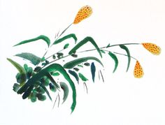 Dulzura, 2014. Sumi-e – Tinta sobre papel  en  soporte rígido. 33 x 25 Alesso, Plant Leaves, Plants, Antique China, Ink, Paper Envelopes, Art, Plant, Planets