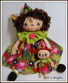 Raggedy Doll  Lucy  So Bright by Allisbright on Etsy, $36.00
