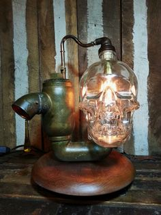 One-of-a-kind Upcycled Repurposed Crystal Head by UrsMineNours