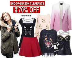 Clearance at Romwe, don´t miss out  http://trendsvip.com/must-have-items-with-romwe/