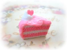 Handmade Polymer Clay Cake Charm Pendant  2pcs by sillycupcakes, $6.00