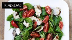 METTENDE: En lun salat metter godt! Dressingen gir det hele en piff.