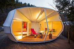 Donut-shaped glamping tent.