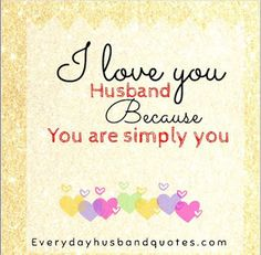 I love you for husband quotes
