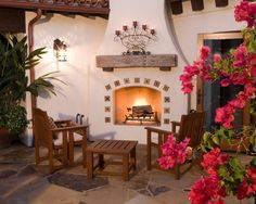 Spanish fireplace bu
