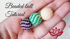 sfera da 10 mm Beaded ball with seed beads - peyote stitch