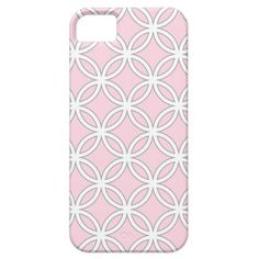 Connected Circles in Cotton Candy Pink iPhone 5 Covers #monogram #customize #personalize #gift #iPhone5 #zazzle