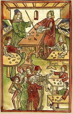 """1491 Cutting from """"Ortus Sanitatis"""" printed by Jacob Meydenbach, Mainz. 1491 Woodcut with hand-colouring - this can be saved to file if you want to share it with the class AFTER holding the reading test. Medieval Games, Medieval Crafts, Medieval Art, 15th Century Fashion, 15th Century Clothing, Medieval Manuscript, Illuminated Manuscript, Book Illustration, Illustrations"""