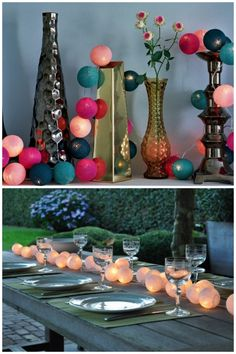 cable and cotton party lights