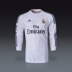 adidas Real Madrid Long Sleeve Home Jersey 13/14