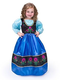 Little Adventures Traditional Scandinavian Princess Girls Costume  Medium 35 Yrs *** Visit the image link more details.