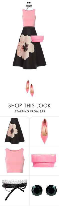 """Pink Lover"" by ittie-kittie on Polyvore featuring Fendi, Glamorous, Victoria Beckham, Fallon, Georgini, Pink, summerstyle and summerfashion"
