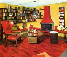 Retro Color: 10 Red and Pink Rooms from the 1960s